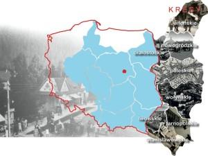 Mapa - mienie zabużańskie pozostawione po II wojnie światowej